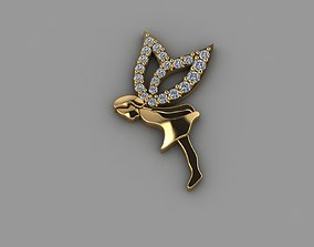Diamond pendant gold printable silver