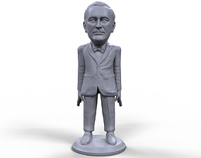 FDR stylized high quality 3D printable miniature