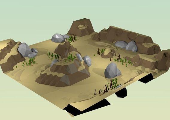 Low Poly Desert