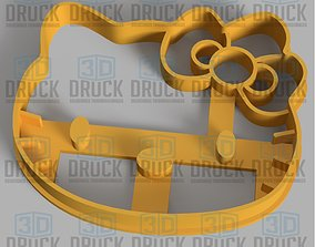 Hello Kitty Cookie Cutter 3D printable model