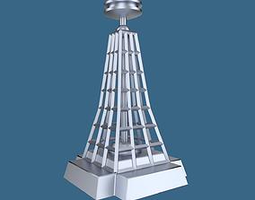 Radio transmission tower 3D model realtime