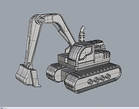 equipment 3D model Excavator