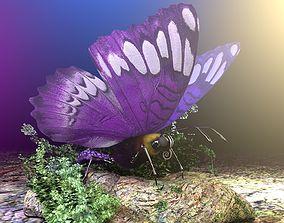 3D Purple Butterfly