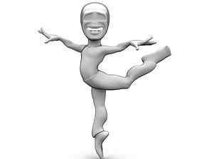 Abstract dancing character 3D asset