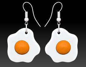 3D print model Fried eggs earrings