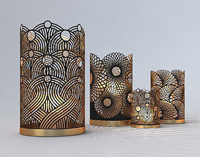 3D Decorative Openwork Candle Holders