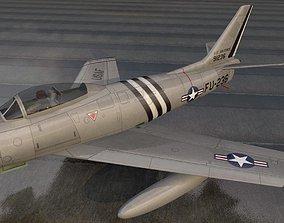 3D North American F-86A Sabre