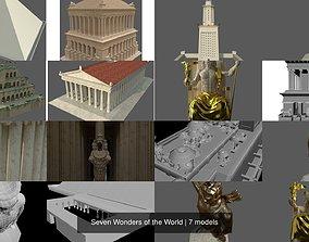 Seven Wonders of the World 3D model