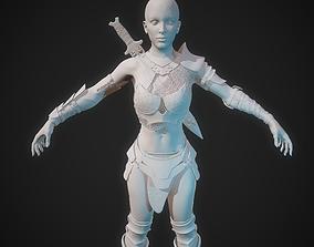 warrior Warrior maiden - high poly 3D