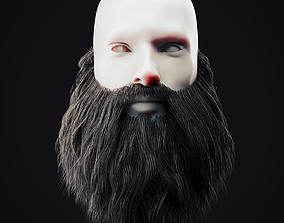 Beard Low Poly 15 3D model