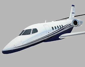 3D model Cessna Citation Latitude in flight