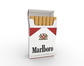 smoke 3D model Marlboro Cigarette Box