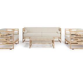 3D model Garden sofas