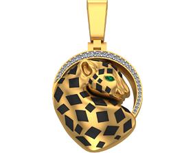 021 - Panther Pendant - Jaguar 3D printable model