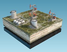 Oil Pumpjack fuel tanks 3D
