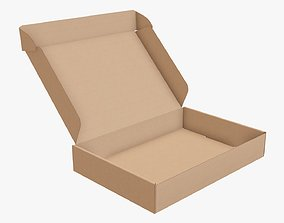 3D model Corrugated cardboard box packaging 07