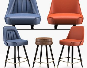 Bar Stool Richardon Seatings 3D model