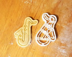Saxophone cookie cutter 3D printable model