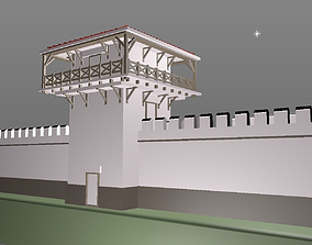 ROMAN TOWER - Limes Wall - printable 3D low-poly
