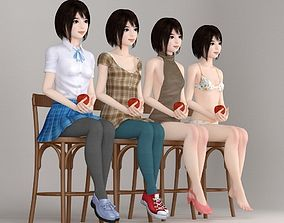 3D model Chiharu various outfit pose 03