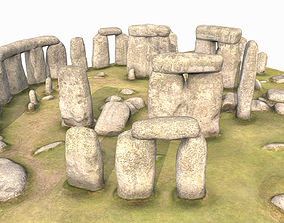 3D model game-ready Low Poly PBR Stonehenge