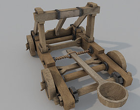 Catapult Low Poly 3D model low-poly