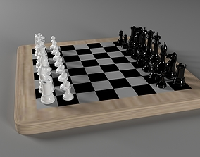 3D model A chess set