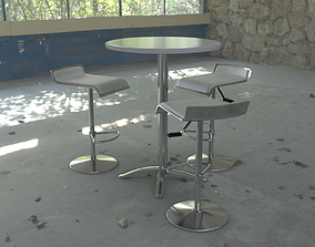 3D asset Cocktail Table Bar
