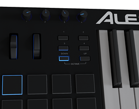 3D asset Alesis V61 MIDI keyboard High-poly and
