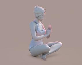 Woman Yoga 03 3D print model