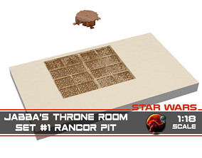 3D print model Jabbas Throne Room - Set 1 - Rancor Pit 1