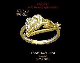 3D asset game-ready diamond-ring ladies ring
