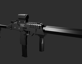 3D model Low Poly MP9 Modified