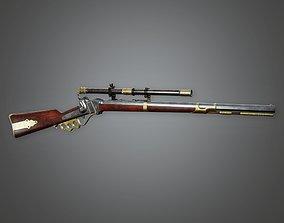 3D asset WES - FPS Western Sniper - Brass Knuckle - PBR 1
