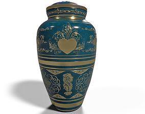 Porcelain Urn or decorative vase v02 3D model