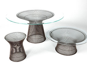 Knoll Platner Coffee Tables 3D