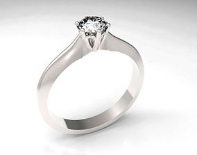 3D printable model diamond Engagement Ring