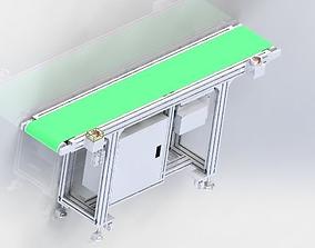 2 m conveyor line 3D model