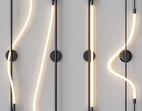 LUKE LAMP CO - Wall Sconce Black Set 3D