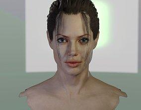 3d model Angelina Jolie head ztl