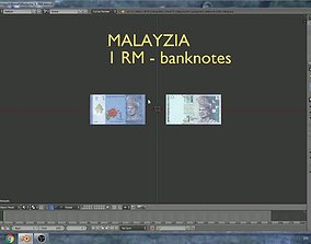 3D model Malayzia - 1 ringgit banknotes
