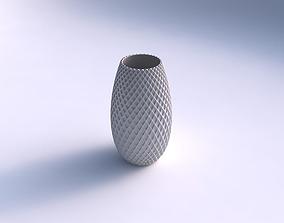 3D printable model Spacious vase with grid piramides 2