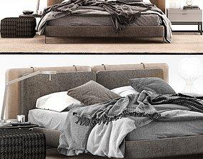 Minotti Tatlin Soft Bed 3D