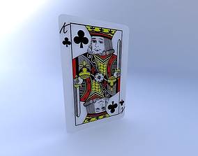 3D King of Clubs