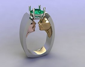 faces ring 3D print model
