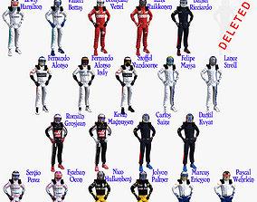 Drivers 2017 Formula 1 3D asset