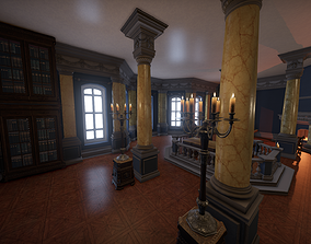 Simple interior - Cabinet library 3D model