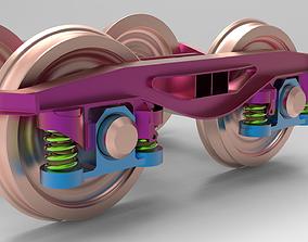 3D printable model Train bogie railway set Y25