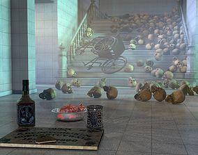 Madhouse Horror Scene 3D model