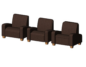 3D print model Miniature armchair mockups props